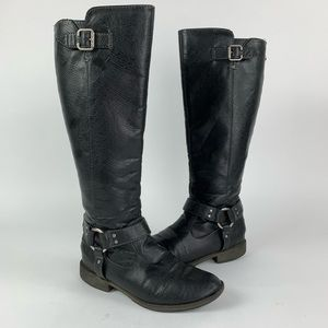 Dr Scholl Isabel Faux Leather Equestrian Boot